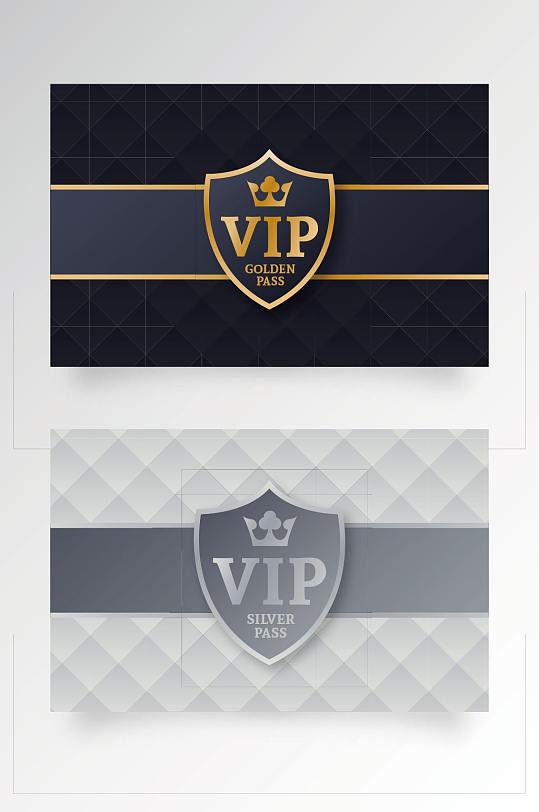 精品黑金酒吧VIP会员卡模板设计-众图网