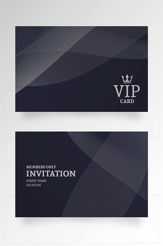 黑色简洁酒店VIP贵宾卡模板设计-众图网