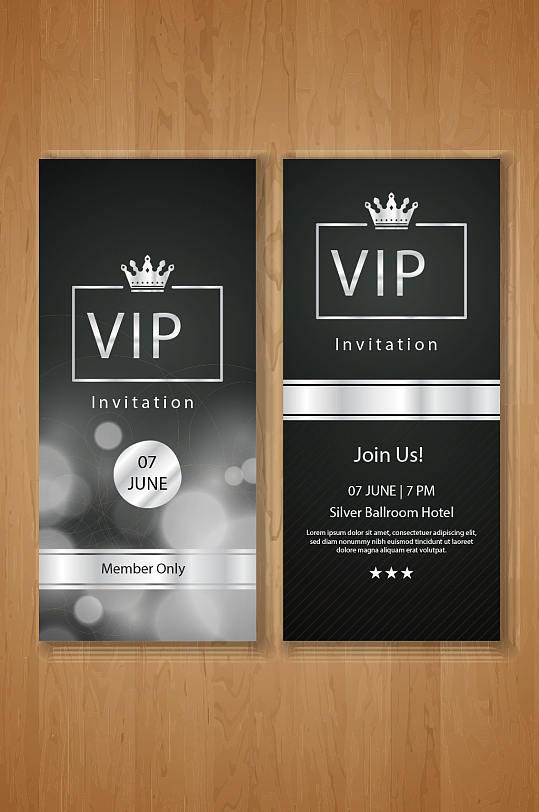 黑色高端VIP会员卡模板设计-众图网