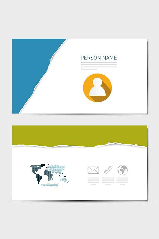 精品简洁名片会员卡模板设计-众图网