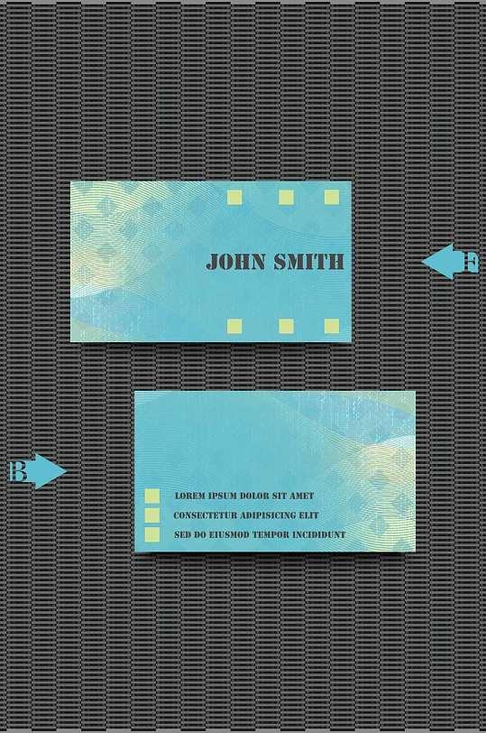 精品创意名片会员卡模板设计-众图网
