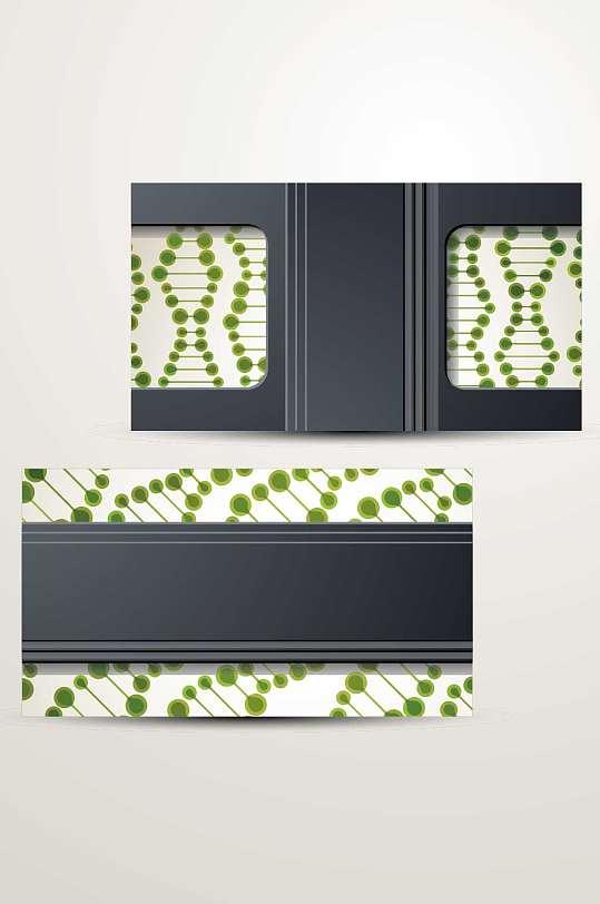 精品DNA生物科技名片会员卡模板-众图网