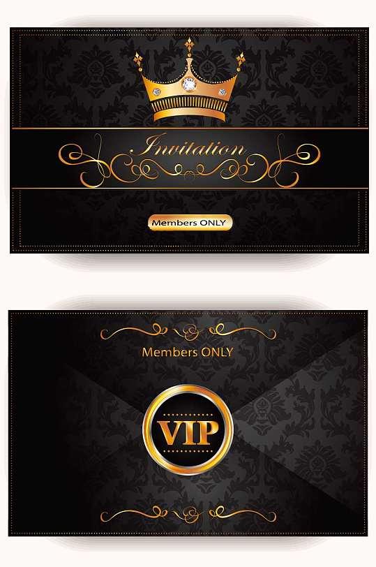 精品高端黑金DJ酒吧VIP贵宾卡模板-众图网