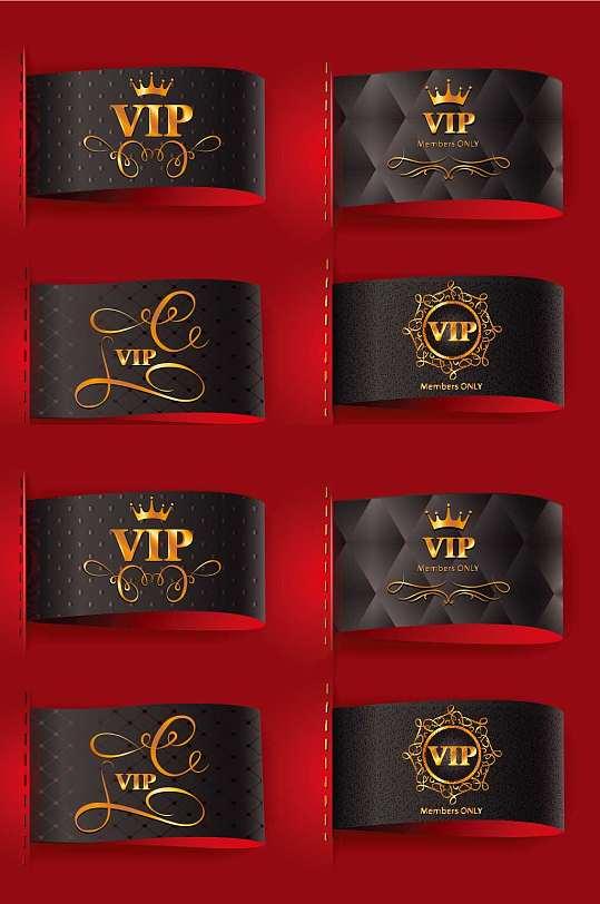 精品多款黑金VIP会员卡模板设计-众图网