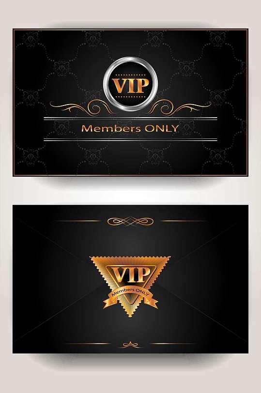 高端奢华黑金VIP贵宾卡模板设计-众图网