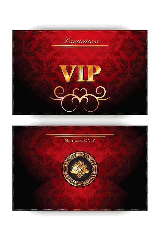 高端美容美发VIP会员卡模板设计-众图网