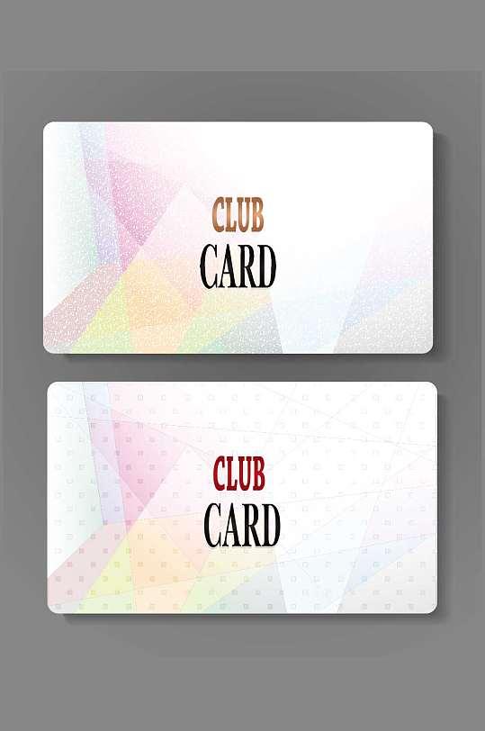 精品炫彩VIP会员卡模板设计-众图网