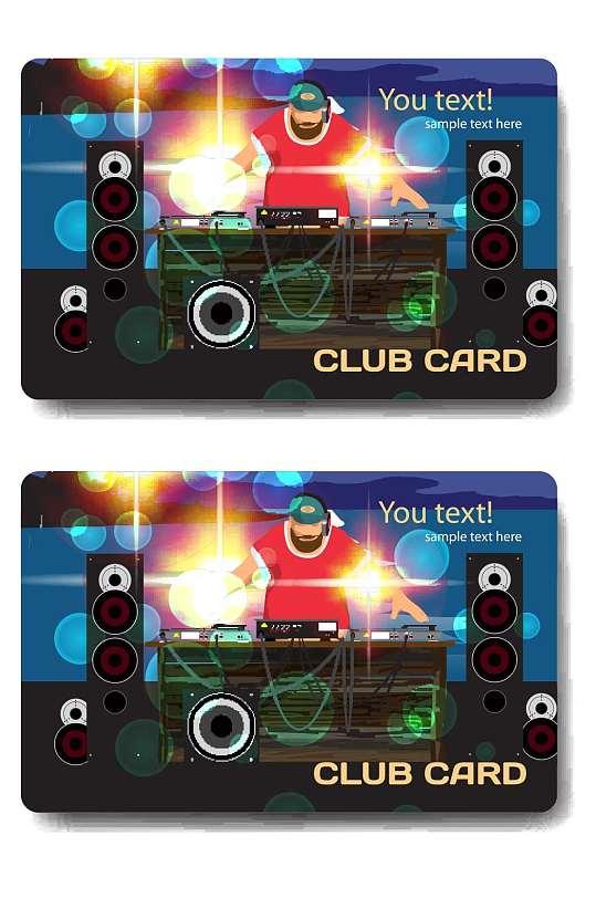 精品酒吧会员卡模板设计-众图网