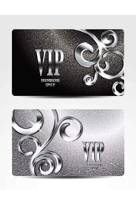 精品金属VIP会员卡模板设计-众图网