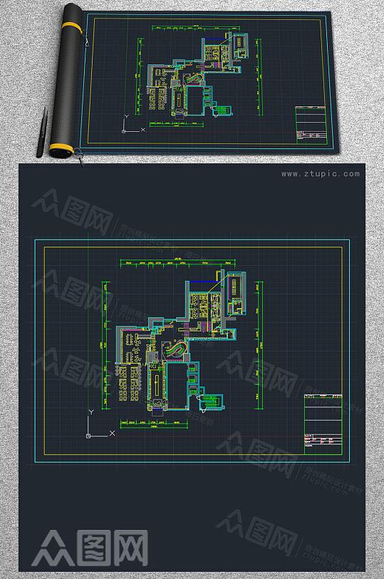 商铺酒吧CAD设计参考图-众图网