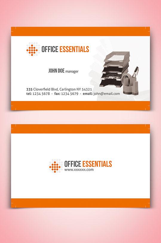 简约大气办公室名片-众图网