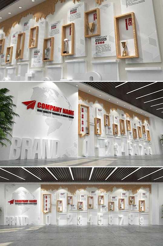 木质高端企业文化墙-众图网