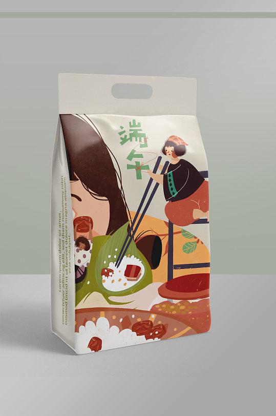 零食食品袋自立袋包装样机粽子-众图网