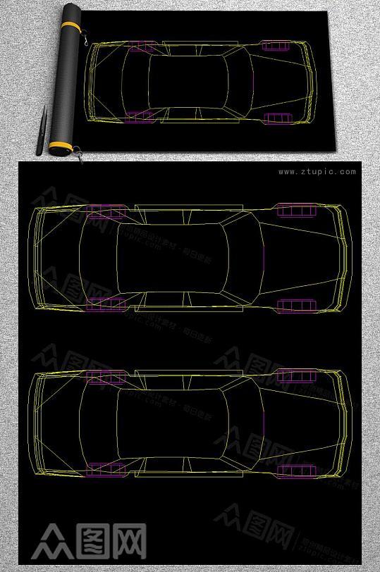 汽车CAD平面图-众图网