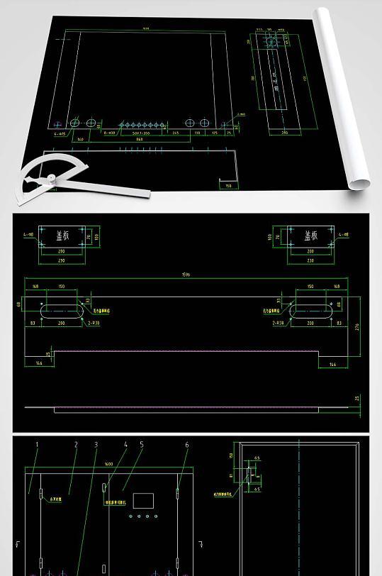 电控箱CAD图纸-众图网