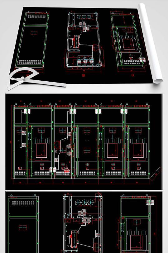 环网柜CAD全套图纸-众图网