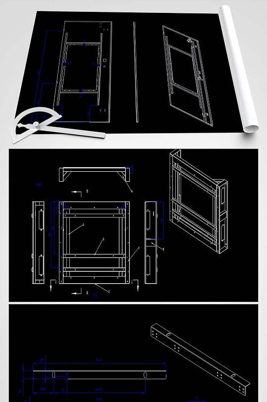 通信柜CAD平面设计图-众图网