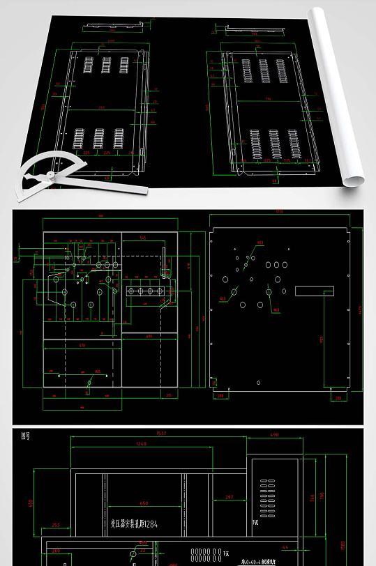 常规组装环网CAD平面图-众图网