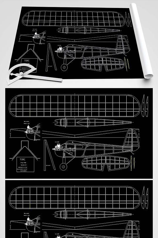 飞机玩具CAD平面图-众图网