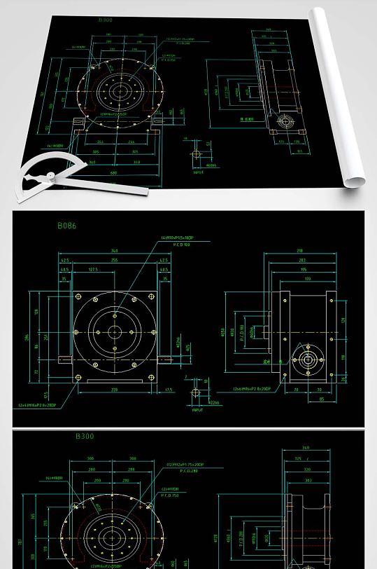 凸轮分割器CAD-众图网
