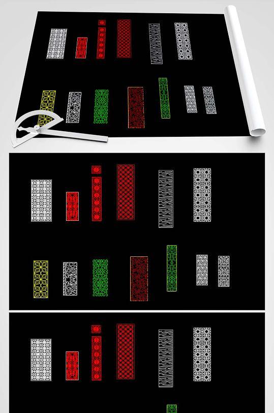 多款屏风CAD设计图-众图网