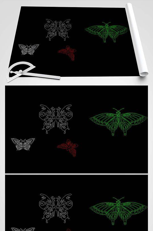 蝴蝶CAD平面图-众图网