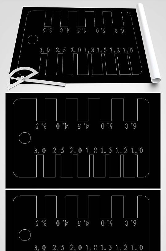 2D卡尺CAD平面图-众图网
