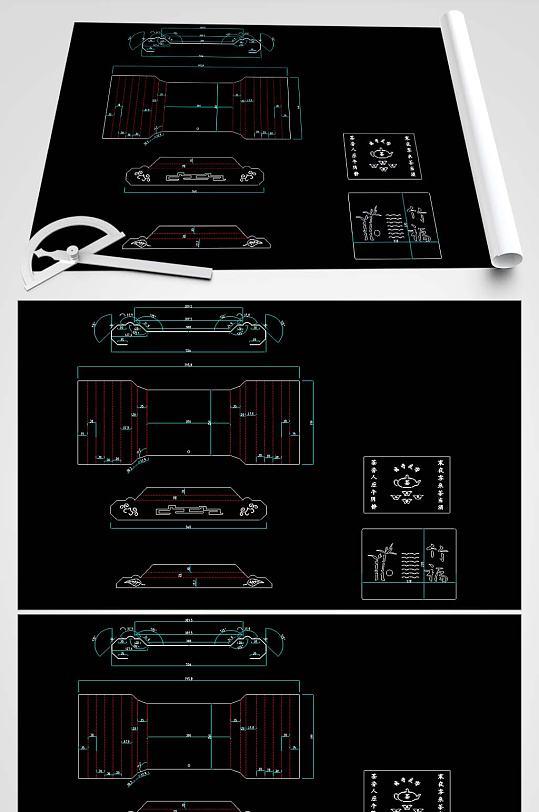 成品茶盘CAD图纸-众图网