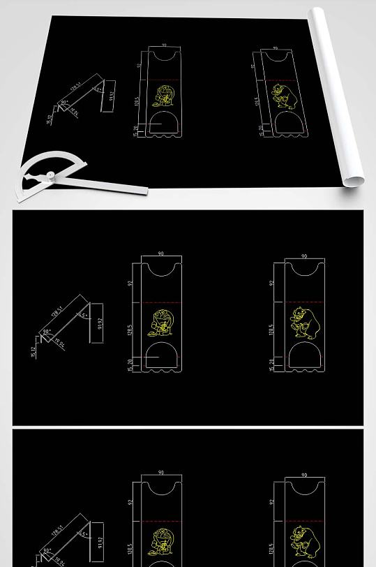 手机座CAD图纸-众图网