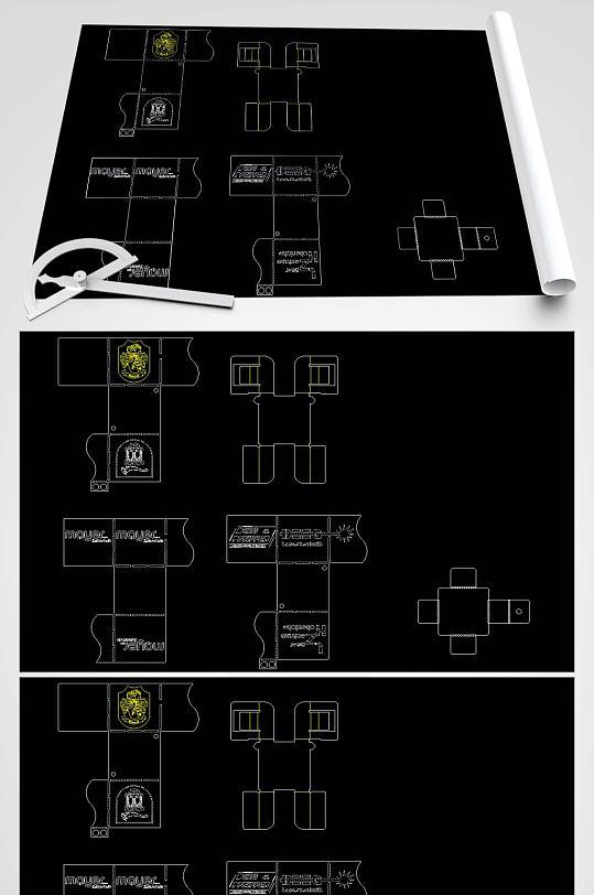 3D盒子CAD平面图-众图网