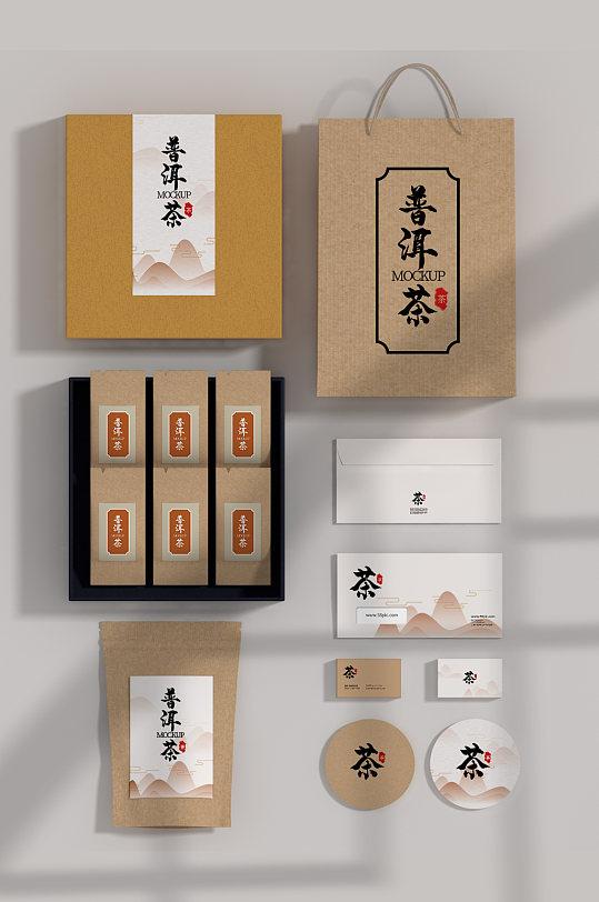 国潮高端VI样机茶叶包装提案样机-众图网