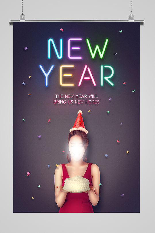 美女庆祝活动庆生新年-众图网