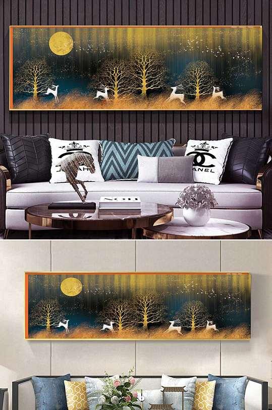 森林麋鹿风景装饰画-众图网