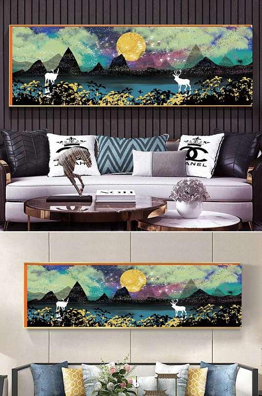 水彩新中式抽象装饰画-众图网