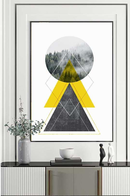 立体时尚风景客厅装饰画-众图网
