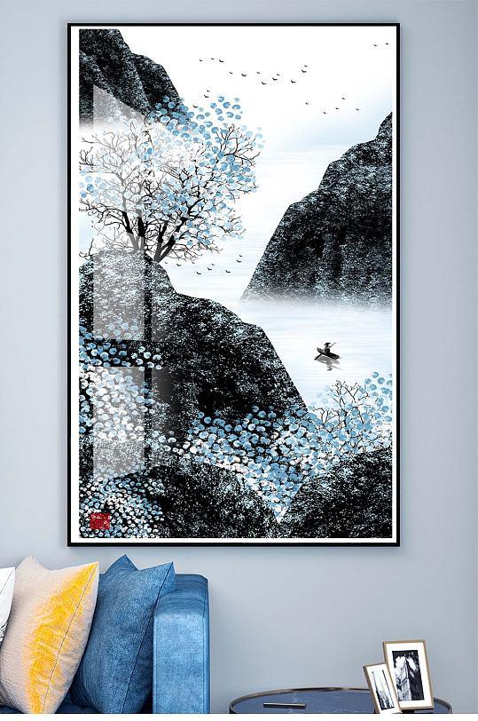 新中式水墨装饰挂画-众图网