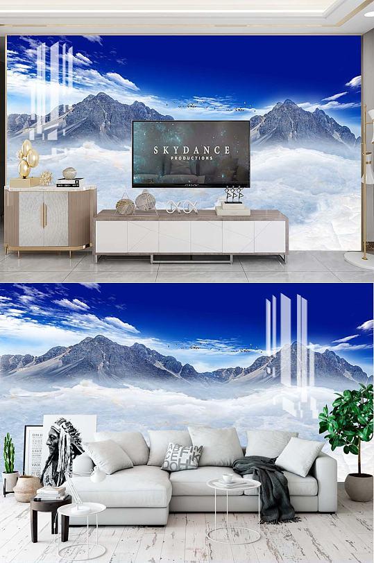 风景山水电视背景-众图网