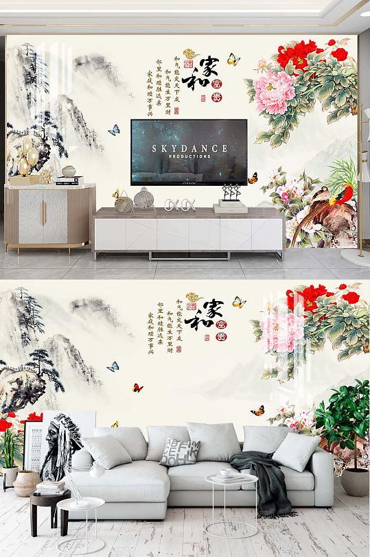 牡丹花鸟电视背景-众图网