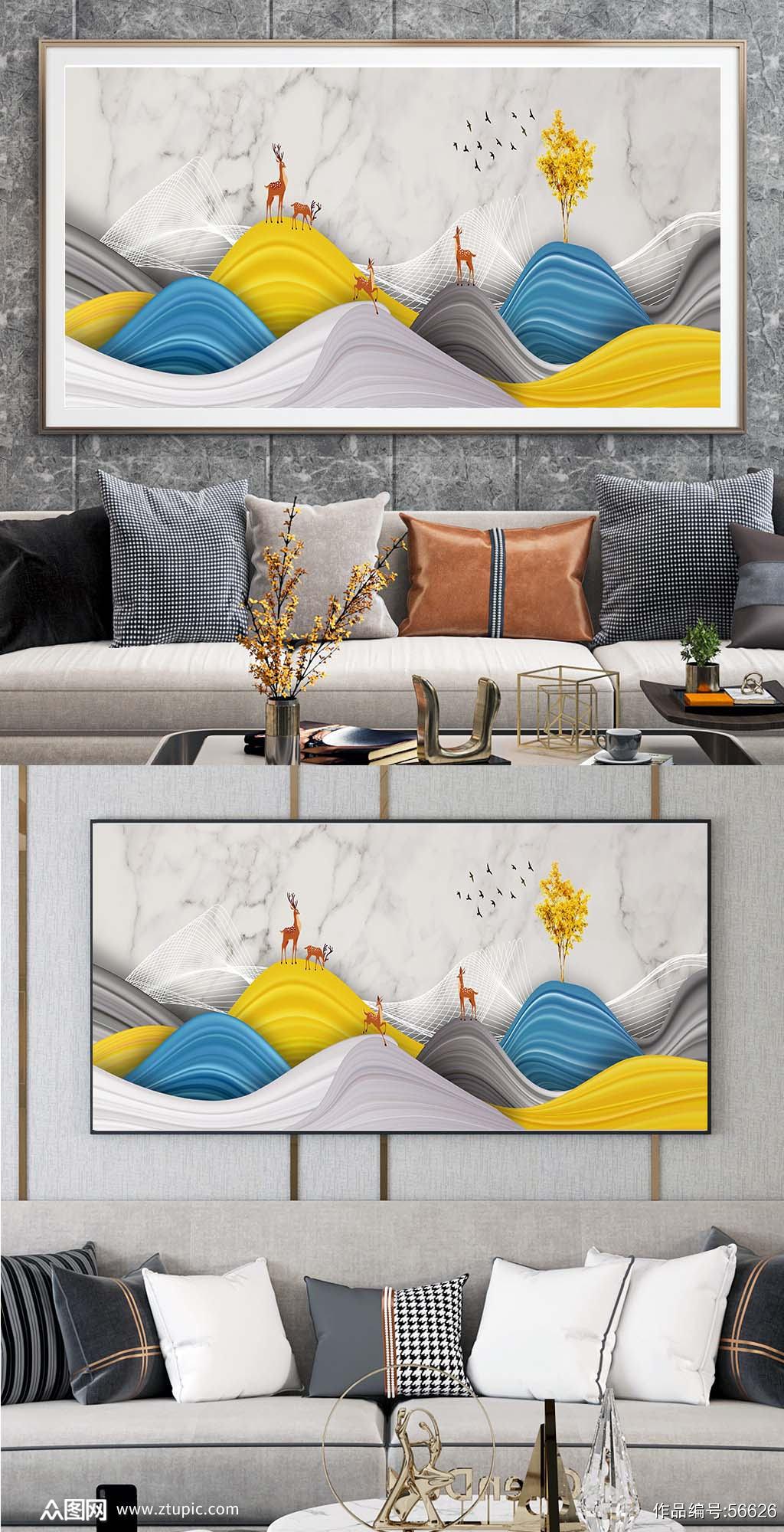 客厅装饰挂画素材