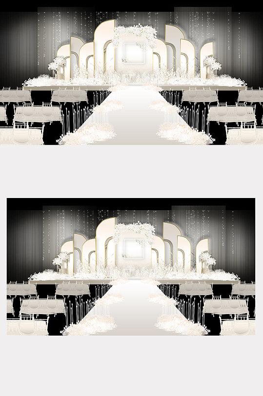 香槟婚礼效果图仪式区-众图网