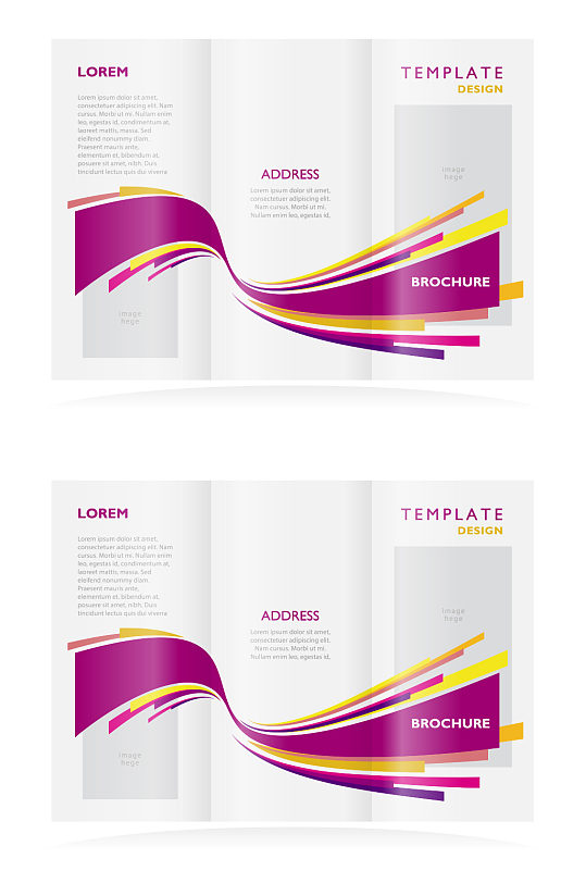高端简洁三折页设计-众图网