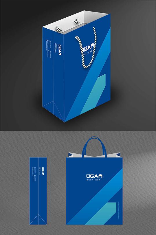 精美蓝色简洁大气手提袋