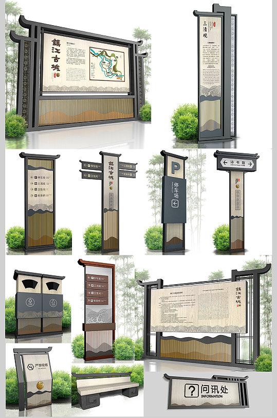 度假村 标识导视旅游古镇公园景点度假村景区导视 地图指示牌