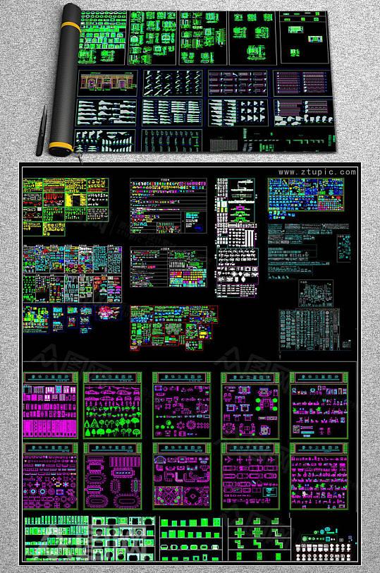 欧式中式现代CAD素材图库-众图网