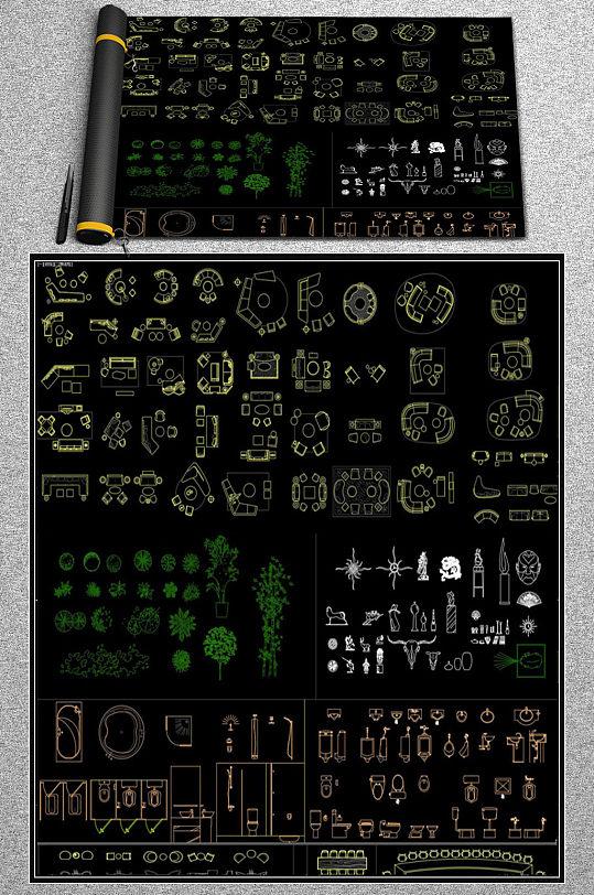 工装办公家具CAD素材-众图网
