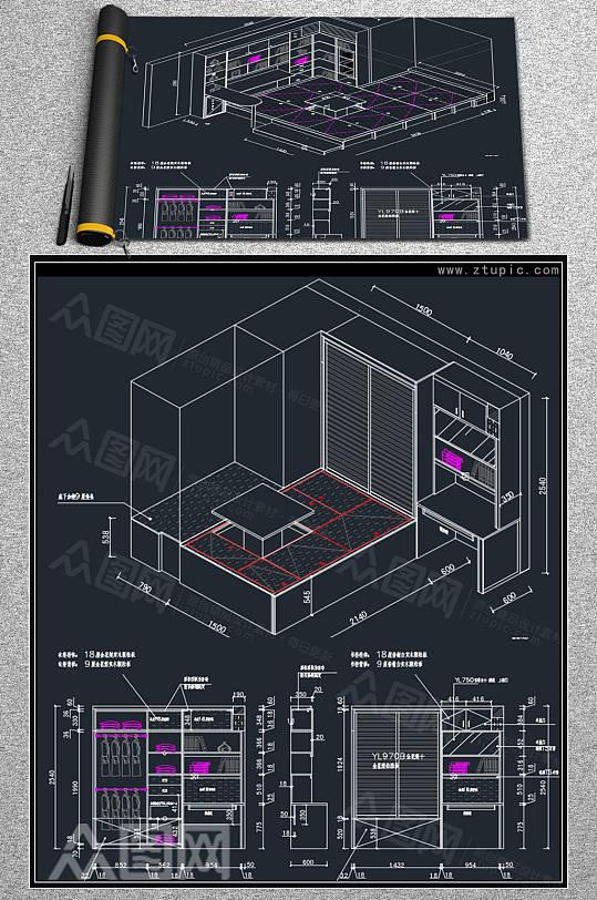 全屋定制榻榻米设计CAD素材-众图网