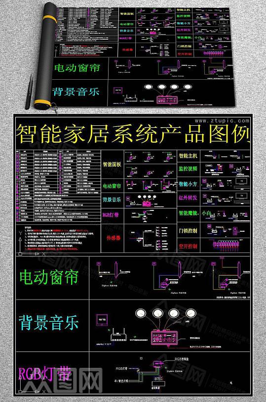 智能家居系统产品图例CAD素材-众图网