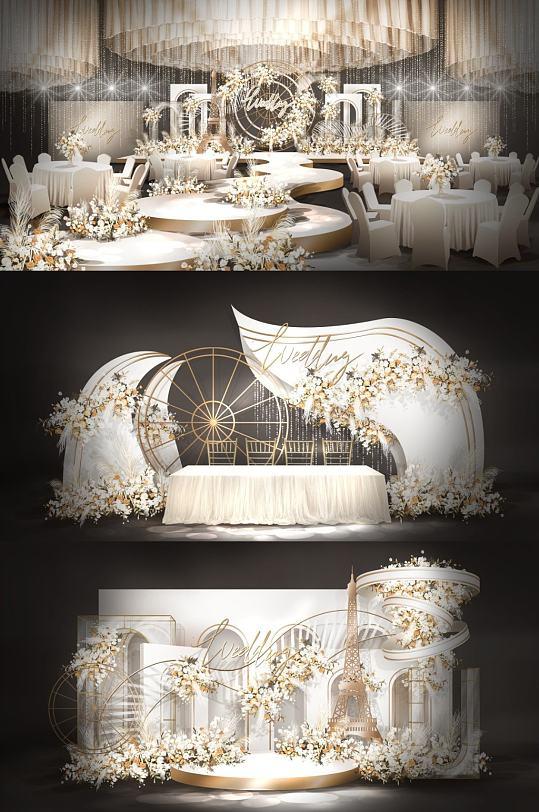 大气香槟婚礼效果图-众图网