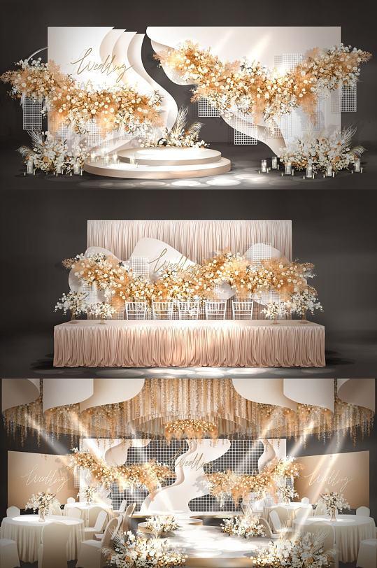 香槟主题婚礼效果图-众图网