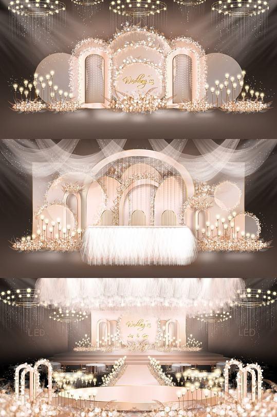 创意金色婚礼效果图-众图网